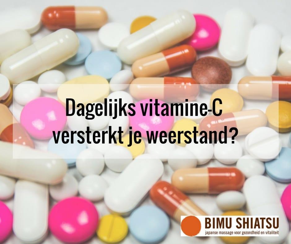 Dagelijks vitamine C versterkt je weerstand